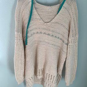 Free People Mix Knit Sweater